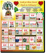 Island Naturals February Specials